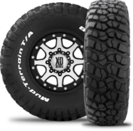 Auto Tyres mud terrain km2 4 two thirds Persp (perspective)