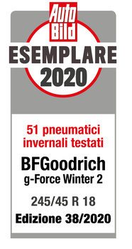 Award BFG g-Force winter 2 - AutoBild 2020 - Exemplary