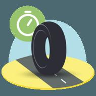 Moto pictogramme longevite pneus