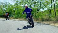 Motorcykel Tidningsledare rtb2 full Däck