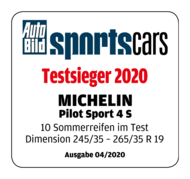 2020 AutoBildSportcar Testsieger Pilot Sport 4S