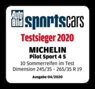 2020 AutoBild Sportscars Testsieger Pilot Sport 4S