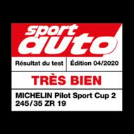 MICHELIN Pilot Sport Cup 2 | Sport Auto - Très bien 2020