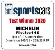 Pilot Sport 4 S - AUTO BILD sportscars Summer 2020