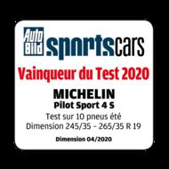 2020 AutoBild Sports Cars Vainqueur du Test PS4 S