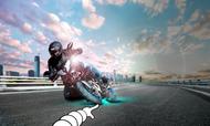 Motorrad Hintergrund michelin power gp 150 Reifen
