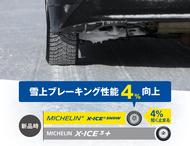 雪上ブレーキング性能の比較 X-ICE SNOW、X-ICE 3+
