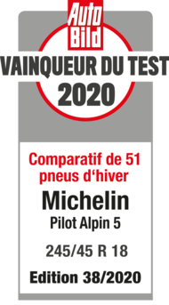 2020 AutoBild Vainqueur du test Pilot Alpin 5