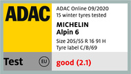 Michelin Alpin 6 ADAC 2020