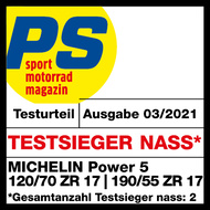 Power 5 PS Testsieger nass