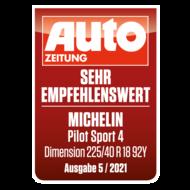 2021 AutoZeitung Pilot Sport 4