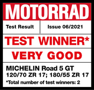 MICHELIN Road 5 GT Test Winner Motorrad