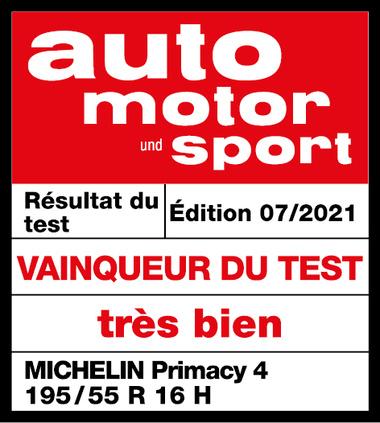 MICHELIN Primacy 4 | Auto Motor Sport - Vainqueur du test 2021