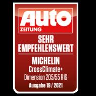 2021 Crossclimate+ AUTO ZEITUNG sehr empfehlenswert DE