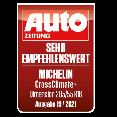 2021 CrossClimate+ Auto Zeitung DE Sehr empfehlenswert